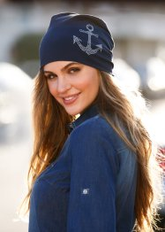 Jersey-Beanie mit Strass, bpc bonprix collection