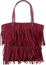 Shopper mit Fransen, bpc bonprix collection, bordeaux