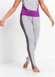 Funktions-Leggings, lang, bpc bonprix collection, hellgrau meliert