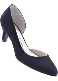 Velourslederpumps, bpc selection, schwarz