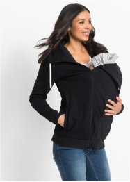 Umstands-Sweatjacke mit Babyeinsatz, bpc bonprix collection, schwarz