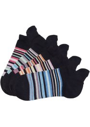 Arizona Sneakersocken (5er-Pack), Arizona, schwarz geringelt