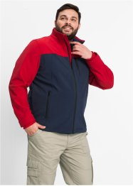 Softshelljacke Regular Fit, bpc selection, dunkelblau/rot