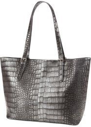Tasche Reptilprägung, bpc bonprix collection, grau