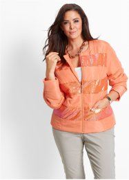 Steppjacke mit Pailletten, bpc selection, lachs