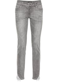 7/8-Stretchjeans mit Spitze, BODYFLIRT, light grey denim