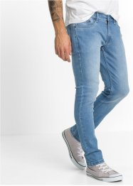 Stretch-Jeans SKINNY, RAINBOW, blue bleached used