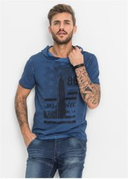 T-Shirt mit Schalkragen Slim Fit, RAINBOW