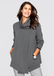 Asymmetrisch geschnittene Sweat-Jacke, bpc bonprix collection