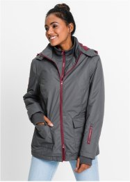 Funktions-Outdoorjacke, bpc bonprix collection, schiefergrau