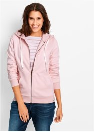 Sweatjacke, bpc bonprix collection, perlrosa