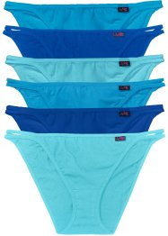Tanga (6er-Pack), bpc bonprix collection, türkis/blau/aqua