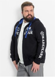 Sweatjacke mit Kapuze Regular Fit, bpc bonprix collection, schwarz