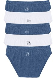 Slip (6er-Pack), bpc bonprix collection, jeansblau+weiss