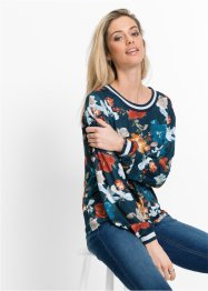 Sweatshirt mit all-over- Blumendruck, RAINBOW