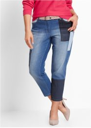 7/8-Patchwork-Stretchjeans, bpc selection, blue stone