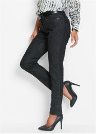 Stretchjeans mit Schnürung, bpc selection, black stone