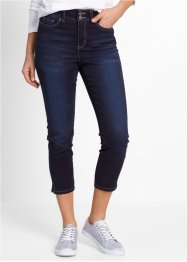 7/8-Push-up-Stretchjeans mit Schlitz, bpc bonprix collection, dark denim