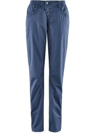 Stretch-Hose mit Rippbund, bpc bonprix collection, indigo