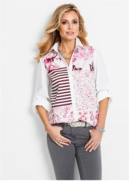 Bluse mit Patchwork-Druck, bpc selection
