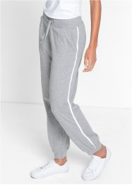 Stretch-Jogginghose, bpc bonprix collection, hellgrau meliert