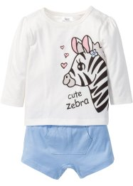 Baby Langarmshirt + Shorts (2-tlg.) Bio-Baumwolle, bpc bonprix collection