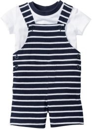 Baby T-Shirt + Latzhose (2-tlg. Set) Bio-Baumwolle, bpc bonprix collection
