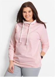 Sweatshirt mit Spitze, bpc bonprix collection, perlrosa