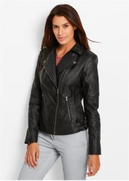 Lederimitatjacke, bpc bonprix collection, schwarz