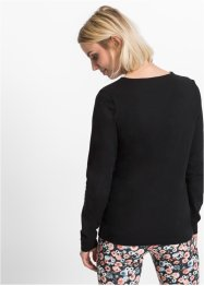 Langarmshirt mit Cut-Out, RAINBOW, schwarz