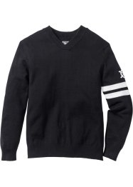 V-Pullover Regular Fit, bpc bonprix collection, schwarz