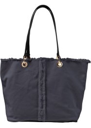 Tasche mit ausgefranstem Saum, bpc bonprix collection, denim blue