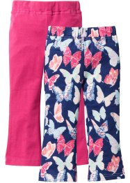 Leggings (2er-Pack), bpc bonprix collection, mitternachtsblau bedruckt+dunkelpink