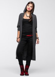 Long-Shirtcardigan, RAINBOW, anthrazit meliert