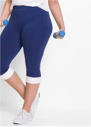 Capri Leggings, bpc bonprix collection, mitternachtsblau/weiß