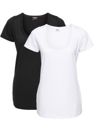 Funktions-T-Shirt mit kurzen Ärmeln (2er-Pack), bpc bonprix collection