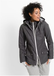 Funktions-Outdoor-Langjacke in 2-in-1-Optik, bpc bonprix collection, schiefergrau