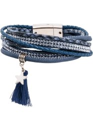 Wickelarmband mit Troddel, bpc bonprix collection, dunkelblau