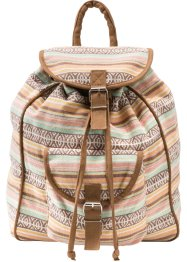 Baumwoll-Rucksack, bpc bonprix collection, creme/mint