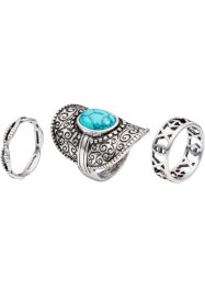 3-tlg. Ringset Bohemian, bpc bonprix collection
