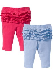 Baby Leggings mit Rüschen (2er-Pack) Bio-Baumwolle, bpc bonprix collection