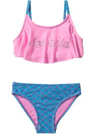 Bikini Mädchen, bpc bonprix collection, türkis/pink