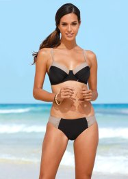 Minimizer Bügel Bikini (2-tlg. Set), bpc bonprix collection, schwarz/natur