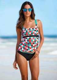 Minimizer Tankini (2-tlg. Set), bpc bonprix collection, schwarz bedruckt