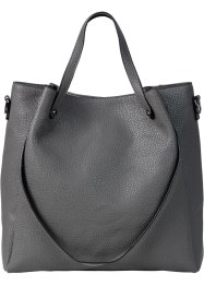 Tasche doppeltem Trageriemen, bpc bonprix collection, grau