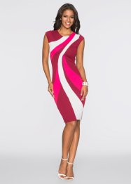 Kleid Multi Color, BODYFLIRT boutique, schwarz/weiß/rot
