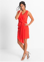 Kleid in Wickeloptik, BODYFLIRT, rotorange
