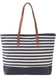 Shopper maritim, bpc bonprix collection, blau/creme
