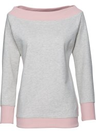 Langarm-Sweatshirt, bpc bonprix collection, naturmeliert
