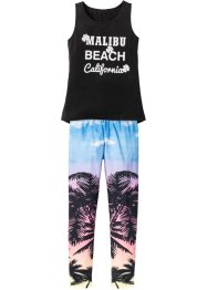 Top + Leggings (2-tlg.), bpc bonprix collection, schwarz